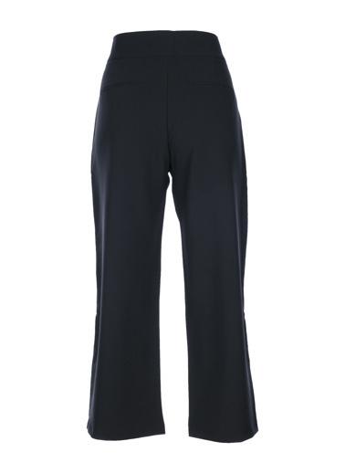 Stamina Beli Kendinden Kemerli Kuşgözlü Pantolon Siyah